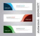 abstract modern banner...   Shutterstock .eps vector #1024943377