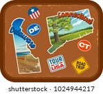 delaware  connecticut  travel... | Shutterstock .eps vector #1024944217