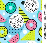trendy pop art vector seamless... | Shutterstock .eps vector #1024948333