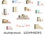 scenery of the city of spring   Shutterstock .eps vector #1024948393