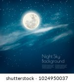 Night Sky Background With...