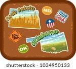 north dakota  oklahoma travel... | Shutterstock .eps vector #1024950133
