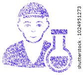 grunge chemistry man rubber... | Shutterstock .eps vector #1024951273