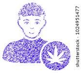 grunge cannabis dealer rubber... | Shutterstock .eps vector #1024951477