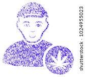 grunge marihuana dealer rubber... | Shutterstock .eps vector #1024955023