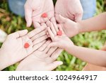 close up man  woman and kid...   Shutterstock . vector #1024964917