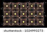 rhinestone applique pattern...   Shutterstock .eps vector #1024993273