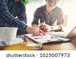 business people meeting design... | Shutterstock . vector #1025007973