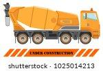 concrete mixer. heavy... | Shutterstock .eps vector #1025014213