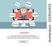 cyber bully job information | Shutterstock .eps vector #1025014933
