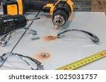 board chipboard cut parts   Shutterstock . vector #1025031757