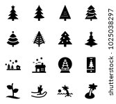 solid vector icon set  ... | Shutterstock .eps vector #1025038297