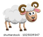 bighorn male sheep isolated on...