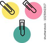 paper clip icon vector art... | Shutterstock .eps vector #1025042317