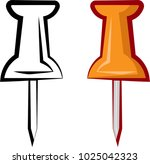 drawing pin icon  push pin... | Shutterstock .eps vector #1025042323