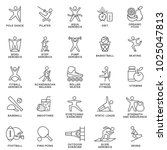 icons fitness. physical... | Shutterstock .eps vector #1025047813