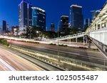 stunning night view of traffic  ...   Shutterstock . vector #1025055487