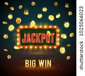 jackpot big win backdrop of... | Shutterstock .eps vector #1025066023