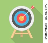 target with arrow  flat style ... | Shutterstock .eps vector #1025071297