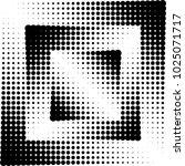 geometric shape halftone vector ... | Shutterstock .eps vector #1025071717
