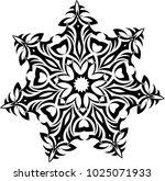 tribal tattoo circular vector... | Shutterstock .eps vector #1025071933
