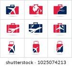 travel logos set design. ticket ... | Shutterstock .eps vector #1025074213