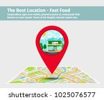 the best location fast food.... | Shutterstock .eps vector #1025076577