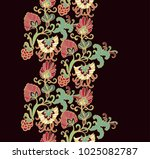 vector border ornament with... | Shutterstock .eps vector #1025082787