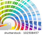 color palette        isolated