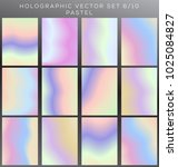 hologram and pastel vector... | Shutterstock .eps vector #1025084827