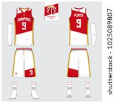 basketball uniform or sport... | Shutterstock .eps vector #1025089807
