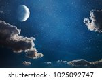 background night sky with stars ... | Shutterstock . vector #1025092747