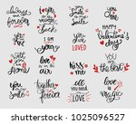 love lettering black and red... | Shutterstock .eps vector #1025096527
