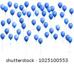 balloons group isolated vector... | Shutterstock .eps vector #1025100553