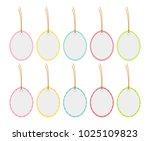 hanging easter eggs isolated on ...   Shutterstock .eps vector #1025109823