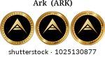 set of physical golden coin ark ...
