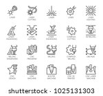 set of 20 line icons in series... | Shutterstock .eps vector #1025131303