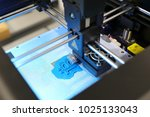 close up of 3d printer while...   Shutterstock . vector #1025133043