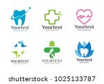 collection of health logo. logo ... | Shutterstock .eps vector #1025133787