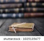 christian cross necklace on a... | Shutterstock . vector #1025135677