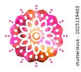 colorful mandala art. sacred... | Shutterstock .eps vector #1025139403