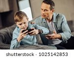 it is enough. strict young... | Shutterstock . vector #1025142853
