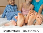 happy brother and sisters ... | Shutterstock . vector #1025144077