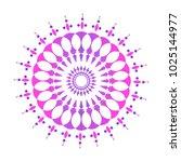 colorful mandala sacred ancient ... | Shutterstock .eps vector #1025144977