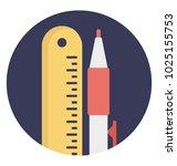 flat icon school stationery ... | Shutterstock .eps vector #1025155753