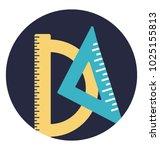 flat icon geometric instrument  ... | Shutterstock .eps vector #1025155813