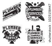 set of vintage logo graphic... | Shutterstock .eps vector #1025158447