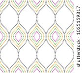 seamless vector dotted colorful ...   Shutterstock .eps vector #1025159317
