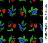 set of berries vector...   Shutterstock .eps vector #1025160607