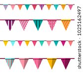 flag. vector colorful flags... | Shutterstock .eps vector #1025162497